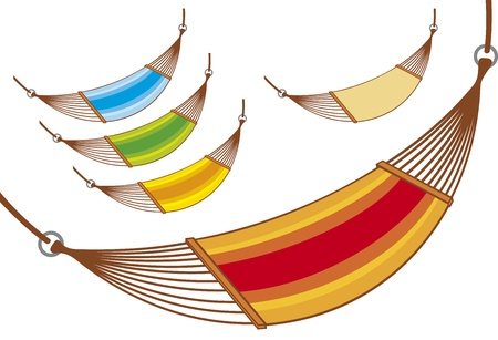 sun bed: hammock set  hammock collection  Illustration