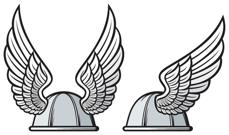 gaul helmet  gaelic helmet with wings, gaul warr helmet, viking helmet  Stock Vector - 21892989