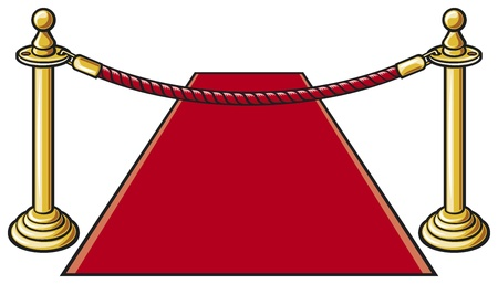 rope barrier: red carpet  rope barrier  Illustration