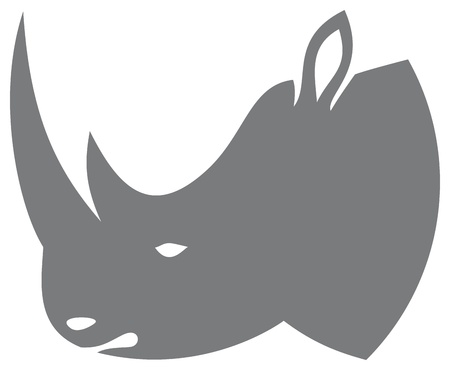 rhino head  rhino design  Vector