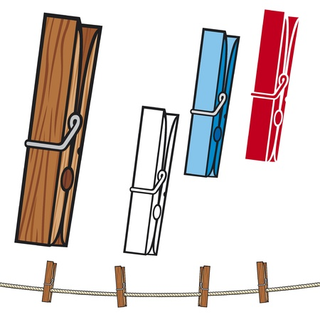 clothes peg: clothespin  clothespin and rope, clothes pegs