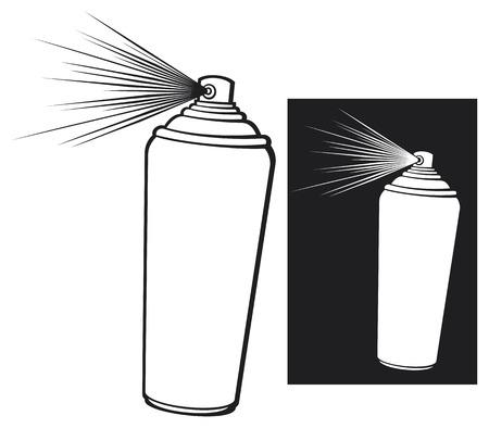 spray can: aerosol stencil  aerosol spray, spray can  Illustration