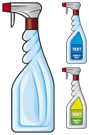 disinfectant: cleaning spray bottle