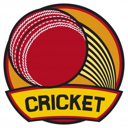 cricket ball: cricket symbol  cricket label  Illustration