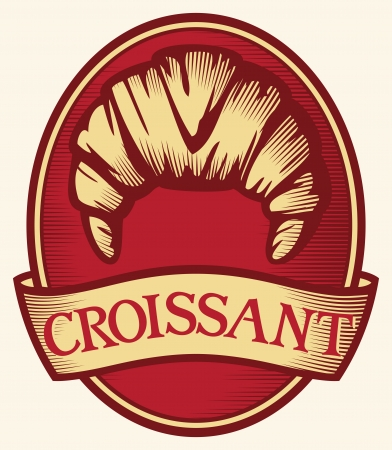 Save to a Lightbox   9660;    Find Similar Images    Share   9660; croissant label  croissant symbol  Vector