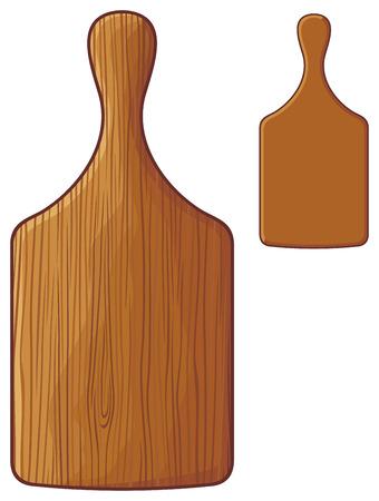 paddle: cutting board