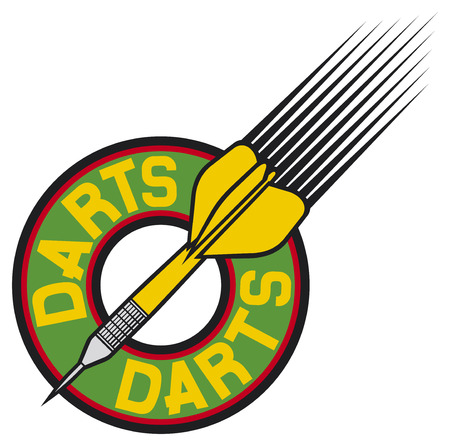 darts: darts label  darts sign