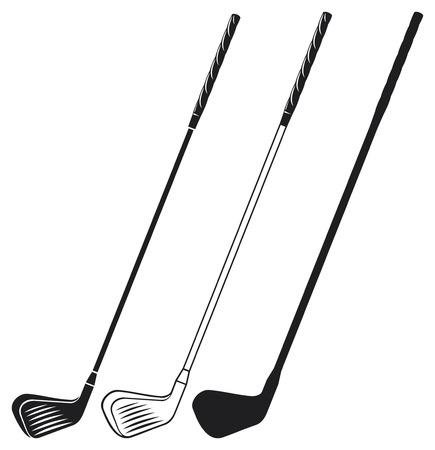 golf stick: golf club