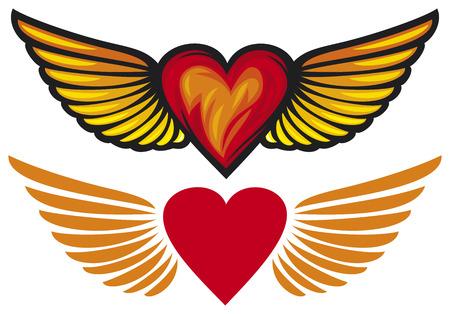 kalp: kanatları ile kalp