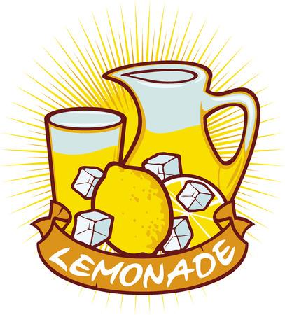 lemonade label lemonade design - lemonade glass, glass of lemonade, lemonade in pitcher