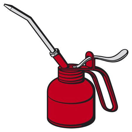 lubricant: oil can Illustration