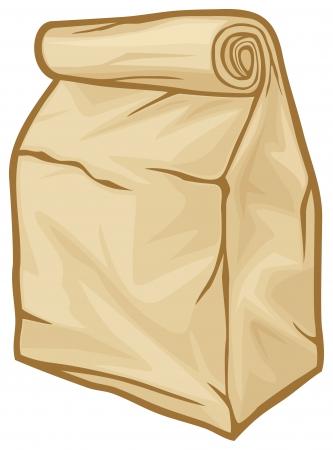 botanas: bolsa de almuerzo bolsa de papel