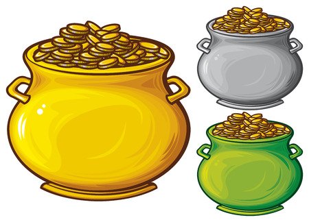 pot of gold coins  pot of gold Stock Vector - 23126210