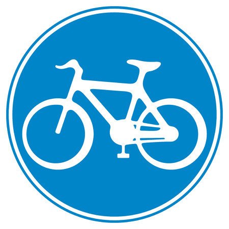 bicycle lane sign  sign of a bike, bicycle lane symbol, bike icon, cycle symbol  Illustration