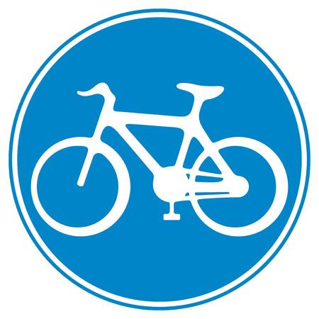 bicycle lane: bicycle lane sign  sign of a bike, bicycle lane symbol, bike icon, cycle symbol  Illustration