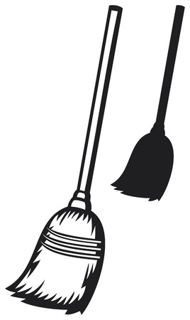 besom: broom Illustration