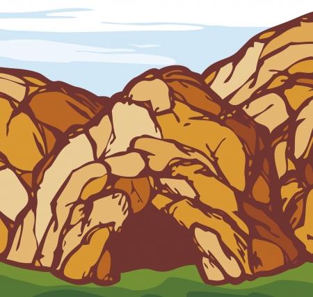 groty: jaskinia jaskinia Skała Ilustracja