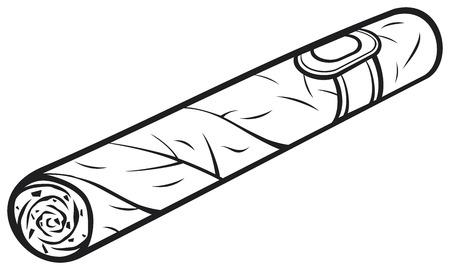 cigar cartoon: cuban cigar  cartoon cigar  Illustration