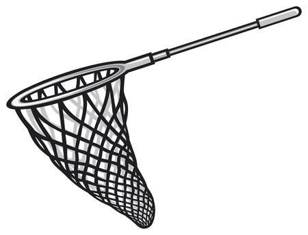 fishnet: fishing net Illustration