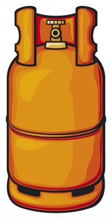 eine Propangasflasche Gasballon, inländischen Gas-Zylinder, Gasbehälter