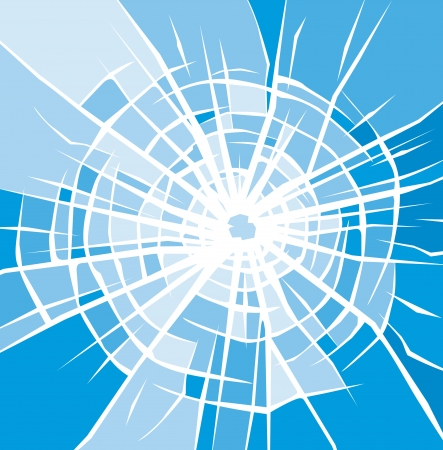 thrash: broken glass vector background of cracked glass  broken glass with cracks, bullet hole in glass