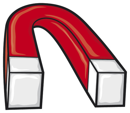 magnetization: horseshoe magnet  red magnet, iron magnet