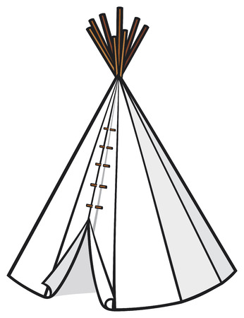 illustration of a wigwam  american indian wigwam, indian tepee, indians tepee Stock Vector - 23476375