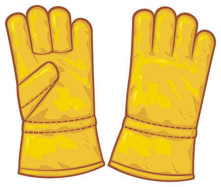 leather gloves  protective gloves, working gloves  Vector