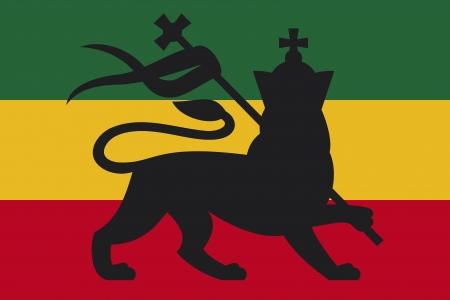 reggae: drapeau rasta avec le lion de Juda rastafari lion, reggae fond
