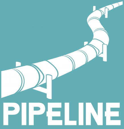 pipeline design  pipeline sign  Vector