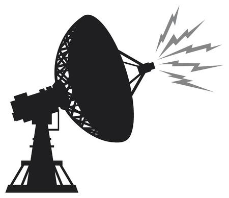 space antenna: radar silhouette  satellite antenna, radar satellite dish, satellite dishes antenna, radar dish