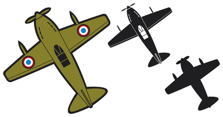 vector planes  air force, aircraft, old airplanes, old planes, airplanes background  Illustration