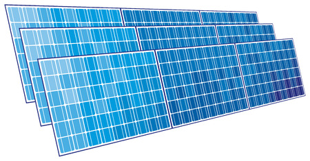 solar panels  solar cell  Vector