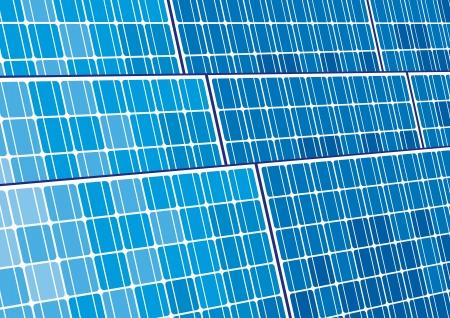 solar equipment: los paneles solares de dise�o de fondo de c�lulas solares Vectores
