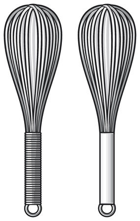 wire whisk: balloon whisk Illustration