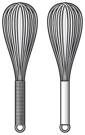 whisk: balloon whisk Illustration