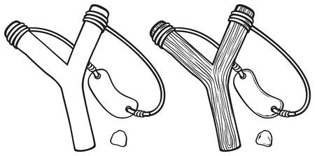 primitive tools: wooden slingshot