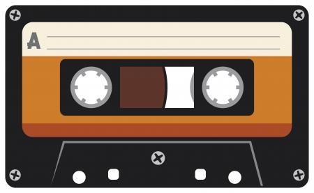 audio cassette: audio cassette tape Illustration
