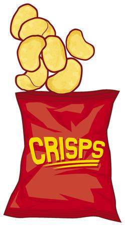 tentempi�: bolsa de patatas fritas de bolsa de papas fritas de patata