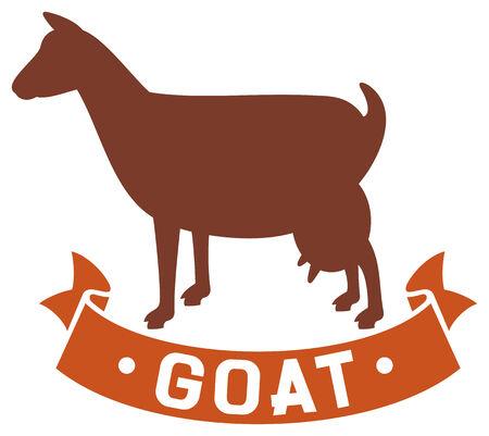 goat cheese: goat symbol  goat icon  Illustration