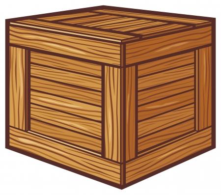 boîte en bois Vecteurs