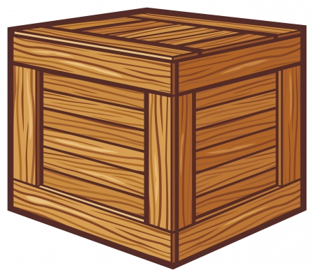 crate: wooden box