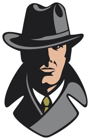 operante: detective privato Vettoriali