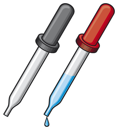 dropper vector illustratie medisch pipet, pipet Stock Illustratie