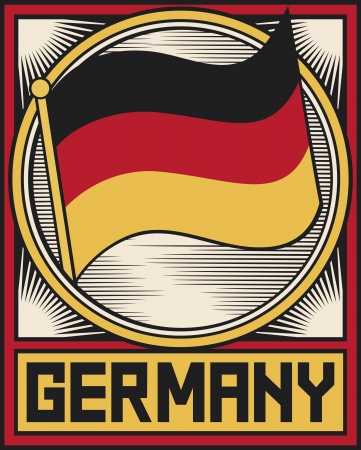 germany flag poster Vector