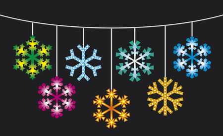 outdoor lights: collection of snowflakes with lights  decorative snowflakes holidays lights