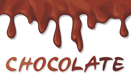 dripping chocolate: chocolate background  melting chocolate  Illustration
