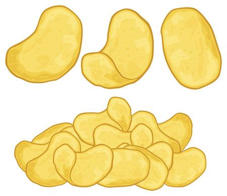 Kartoffelchips Kartoffelchips Illustration