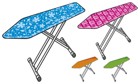 cleaning cloth: ironing board Illustration