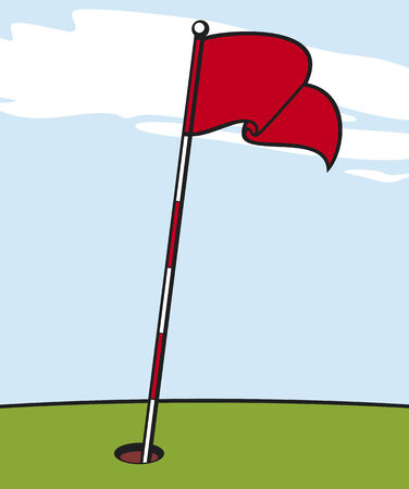 golf drapeau: illustration d'un drapeau de golf Illustration